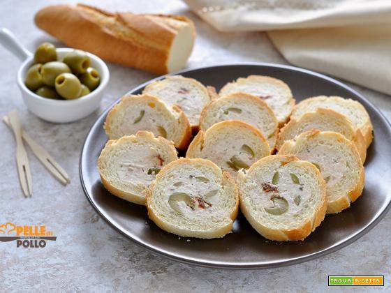 Baguette ripiena al tonno e olive