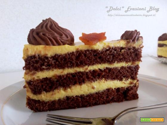 Torta Zabaione Chantilly, Namelaka al Cioccolato e Arancia