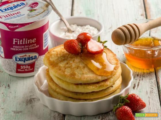Pancakes con i fiocchi di latte Exquisa dopo Natale