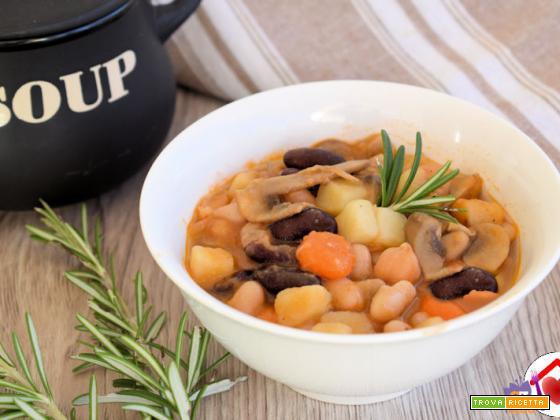 Zuppa di legumi e verdure