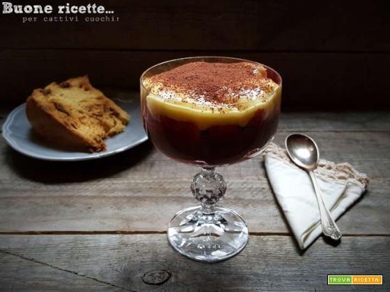 Zuppa inglese con pandoro o panettone