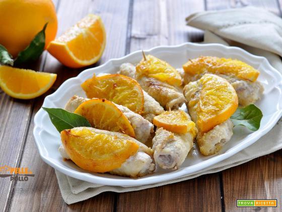 Involtini di lonza con arancia e speck