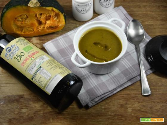 Vellutata di porri zucca e topinambur aromatizzata allo zenzero
