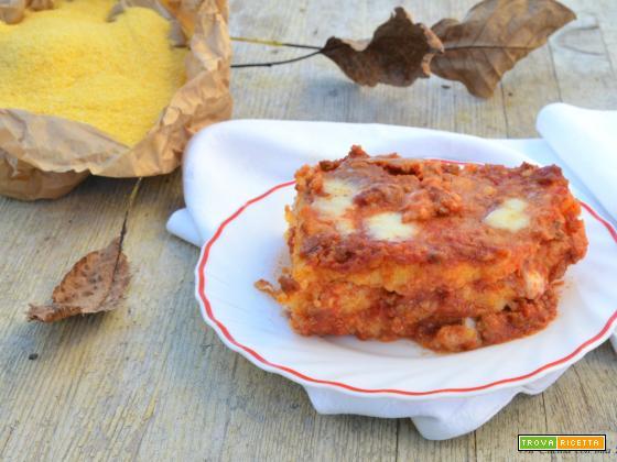 Lasagne di polenta al ragù