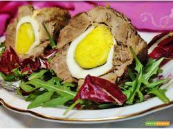 Involtino di carne con uova sode