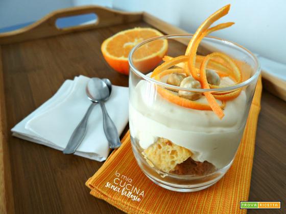 Coppette di mascarpone, arancia e pandoro senza lattosio