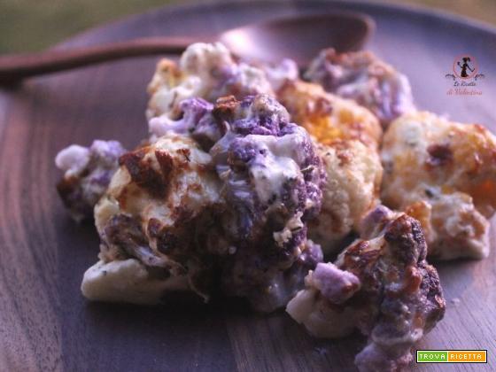 Cavolfiori di tre colori gratinati con crème fraîche in friggitrice ad aria