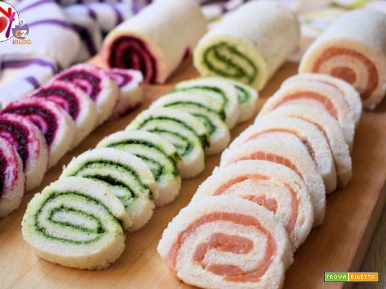 Girelle di pan carrè – antipasto