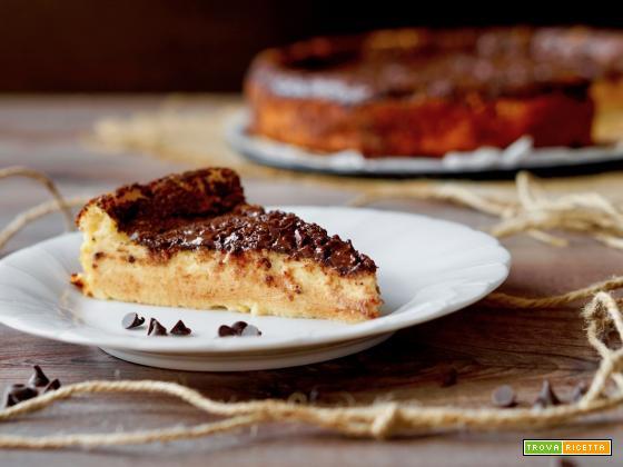 Cheesecake Senza Base al Cioccolato