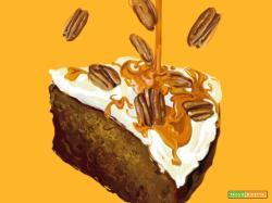 Le vostre ricette disegnate da Daria Rosso: ecco la torta di zucca speziata di Sara