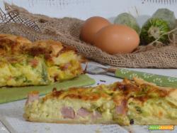 Torta salata zucchine e prosciutto