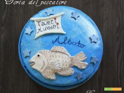 Torta di compleanno del pescatore