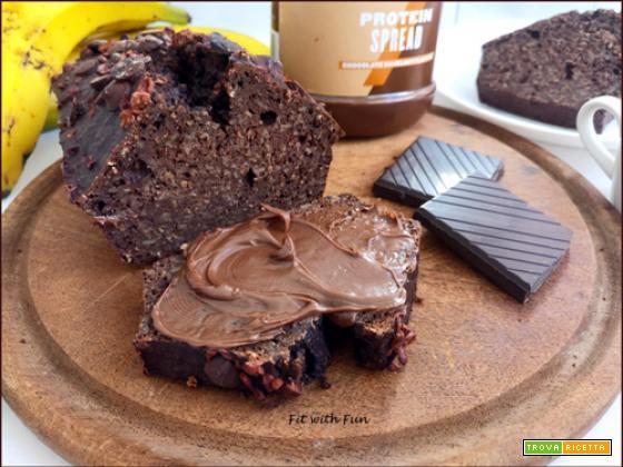 Banana Bread Proteico al Cioccolato Fondente