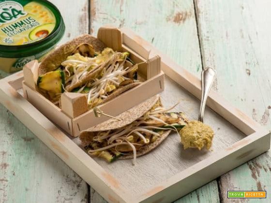 Wraps con Hummus Ceci & Avocado Noa ,idea geniale!