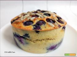 Torta Proteica e Low Carb Cocco e Mirtilli