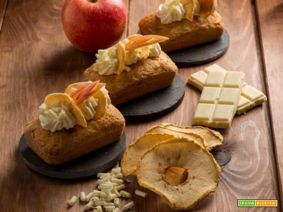 Mini plumcakes alle mele e cioccolato bianco: delizie d'inverno!