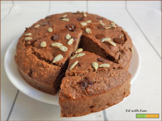 Torta di Avena con Cioccolato e Semi di Girasole