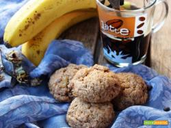 Biscotti alla banana e caffè (senza burro e uova)