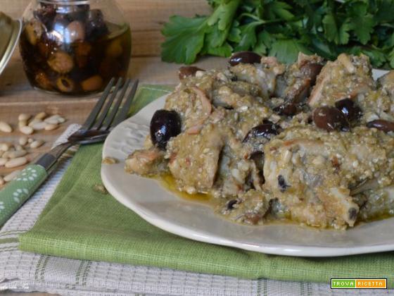 Coniglio con olive alla Ligure CROCK POT