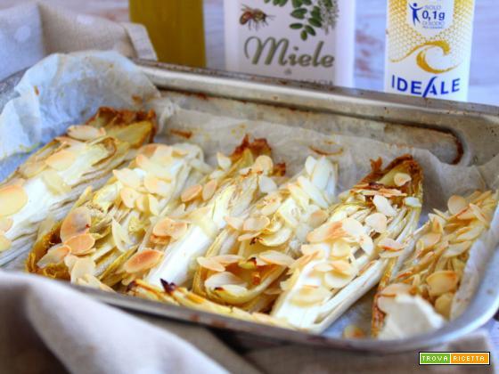 Belga al forno con miele e mandorle