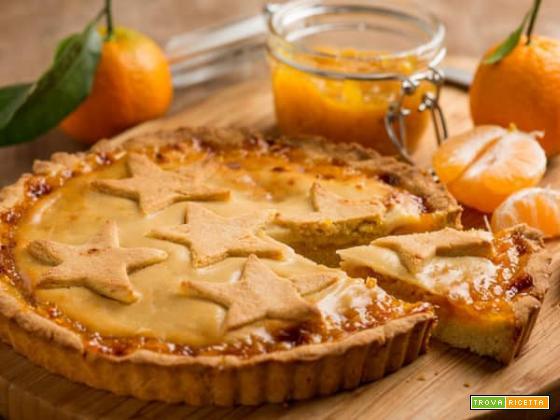 Crostata con marmellata di mandarini per la colazione