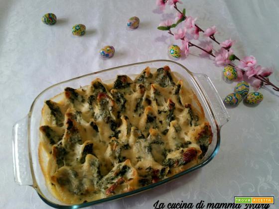Conchiglioni con spinaci e ricotta
