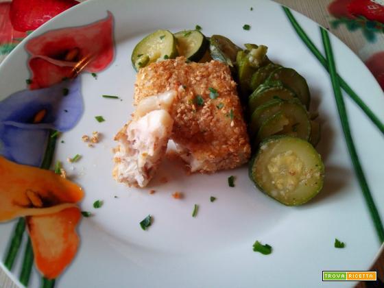 Filetto di merluzzo in crosta di pane e semi di sesamo - La cucina di mamma mary