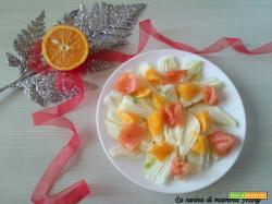 Insalata di finocchi arancia e salmone