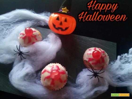 Muffins occhi rossi - Ricetta Halloween