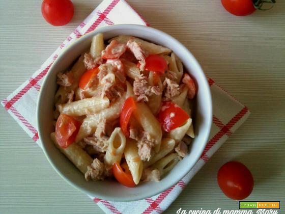 Pasta fredda con tonno pomodorini e maionese - Ricetta lampo