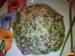 Risotto con spinaci e cotto - Ricetta per bambini
