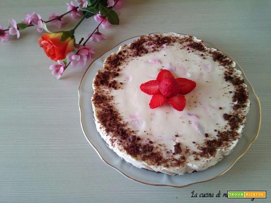 Torta fredda Pan di Stelle mascarpone e fragole - Fresca e delicata