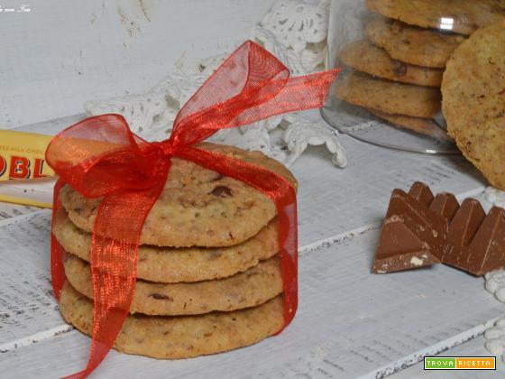 Biscotti cookies Toblerone ricetta facile e veloce
