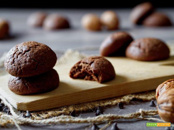 Biscotti Morbidi alle Noci e Cacao