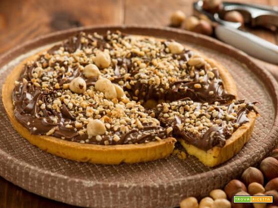 Crostata alla nutella con nocciole : una delizia semplice da preparare