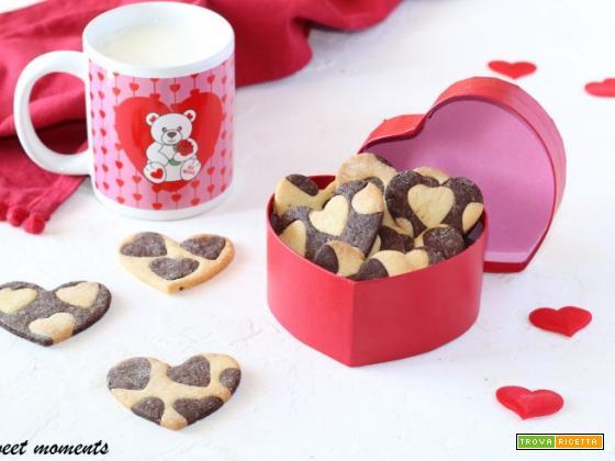 Biscotti vaniglia e cacao San Valentino