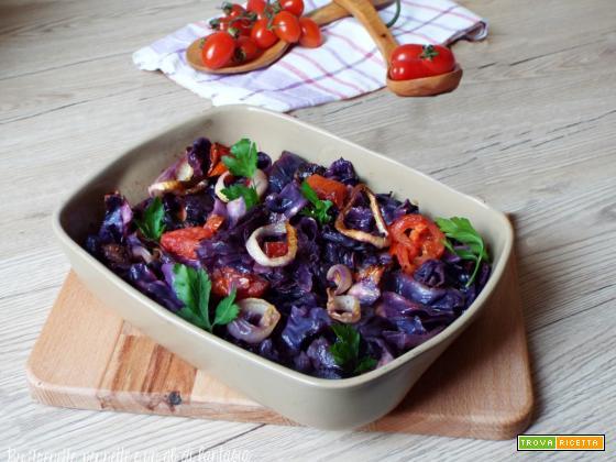 Cavolo cappuccio viola cotto in forno