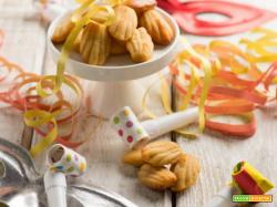 Mini madeleine di mais e mango per stupire a Carnevale