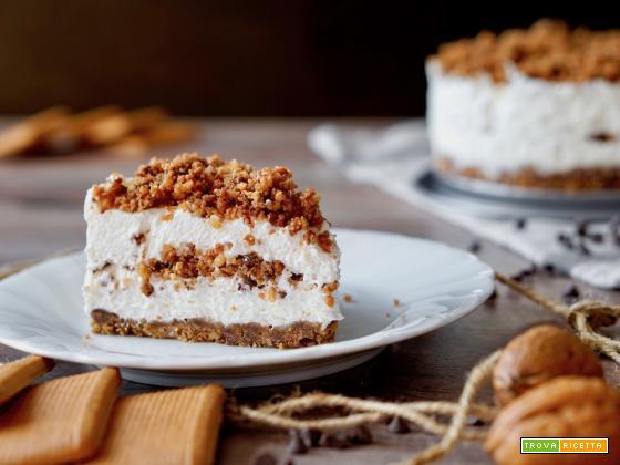 Cheesecake al Cioccolato e Noci Senza Cottura