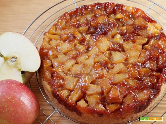 Torta di mele caramellate