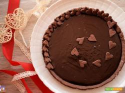 Crostata vegana con crema al cioccolato