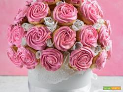 Bouquet di cupcake rose: ricetta con tutorial