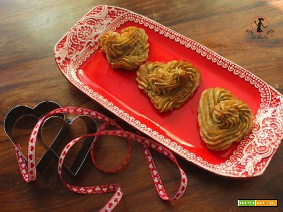 Cuori speziati duchessa di patate vitelotte in friggitrice ad aria