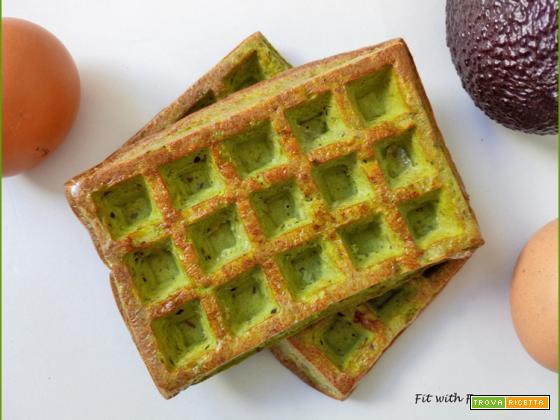 Avocado Waffle Low Carb Proteici Senza Glutine