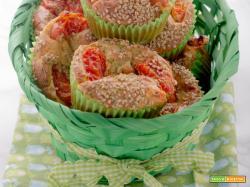 Muffins con zucchine e pecorino