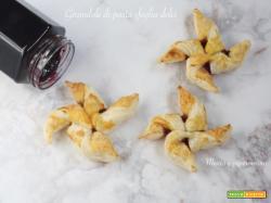 Girandole di pasta sfoglia dolci