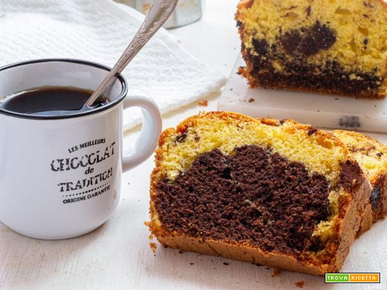 Plumcake bicolore al cioccolato