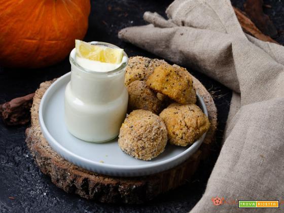 Polpette di zucca ceci e cous cous al forno