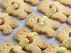 Biscotti Orsetti di Frolla con Mandorla