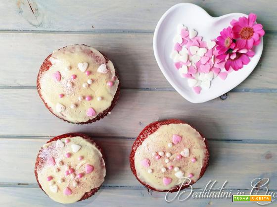 Cupcake cocco e fragola